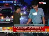 LTO nagsagawa ng operasyon vs. colorum na school service at mga pasaway na motorista