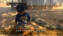 Sambath et Chomran, l amitié incroyable entre un serpent et un an, l amitié incroyable entr