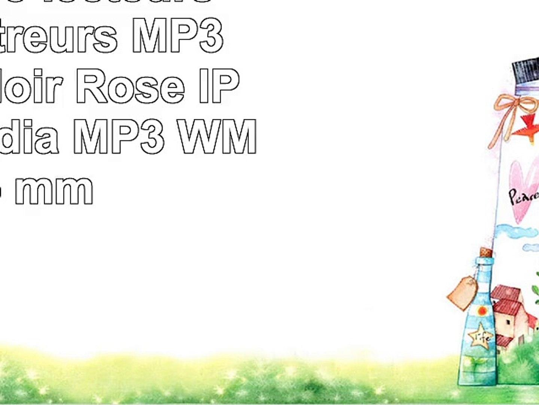 Auna Hydro  lecteurs et enregistreurs MP3MP4 MP3 Noir Rose IPX8 Flashmedia MP3 WMA 35