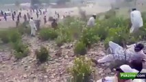 Model KPK Police firing on peaceful protesters in Hangu. Protesting against mole co for stealing their resource oil &gas