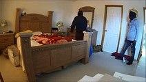 Une femme se cache dans sa salle de bain pour tenter d'échapper à des agresseurs