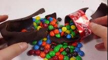 Chocolate M&M's Coca Cola DIY Learn Colors Glitter Slime Clay Icecream Toys