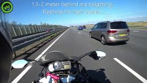 Almost an accident by speeding driver