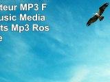 ONN W6 Mini 8 GB Bluetooth Lecteur MP3 FM Radio Music Media Audio Sports Mp3 Rose