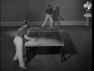 1940 Table Tennis  Présentation coups défense show