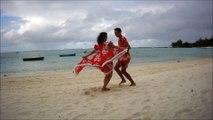 Sega Dance in the Palmar Beach at Mauritius Island