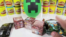 Giant Minecraft Creeper & Enderman Play Doh Surprise Eggs with Minecraft Hangers & Netherrack Toys-LTYakA8BGxs