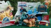 Jurassic World Toys Playskool Heroes Dino Tracker 4X4 & Dinosaur Velociraptor Raptor Figure-9JEbdMbxGIE