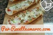 Pizza Baguette au Thon (Ramadan)- Easy Tuna Pizza Baguette - بيتزا الباجيت السهلة واللذيذة