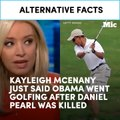Kayleigh McEnany just said Obama went golfing after Daniel Pearl was killed [Mic Archives]