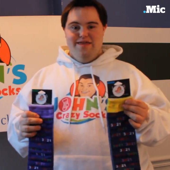 This man with Down syndrome is building a sock empire  [Mic Archives]