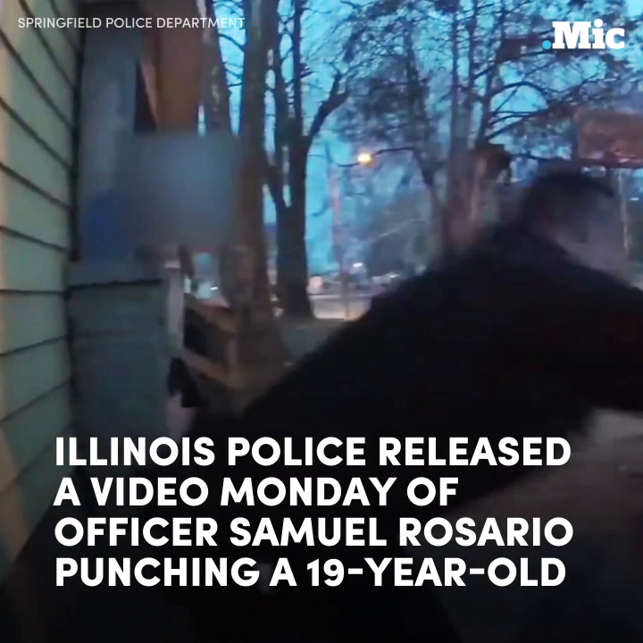 New footage shows an officer repeatedly punching a teenager [Mic Archives]