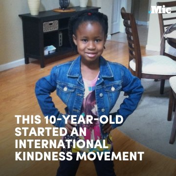 This 10-year-old started an international kindness movement
