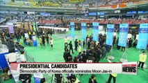 Moon Jae-in earns Democratic Party's official nomination as presidential candidate