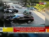 Babaeng walang damit, na-hulicam nang tumalon mula sa kotse ng dayuhang dumukot umano sa kanya