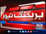 Garhi Khuda Bakhsh  PPP leader Aitzaz Ahsan talks to media