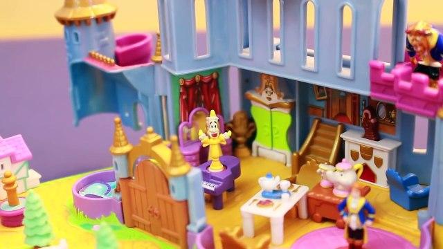 BELLE CASTLE Disney Princess Beauty & The Beast Polly Pocket NEW Disney Beauty & Beast MOVIE TOYS