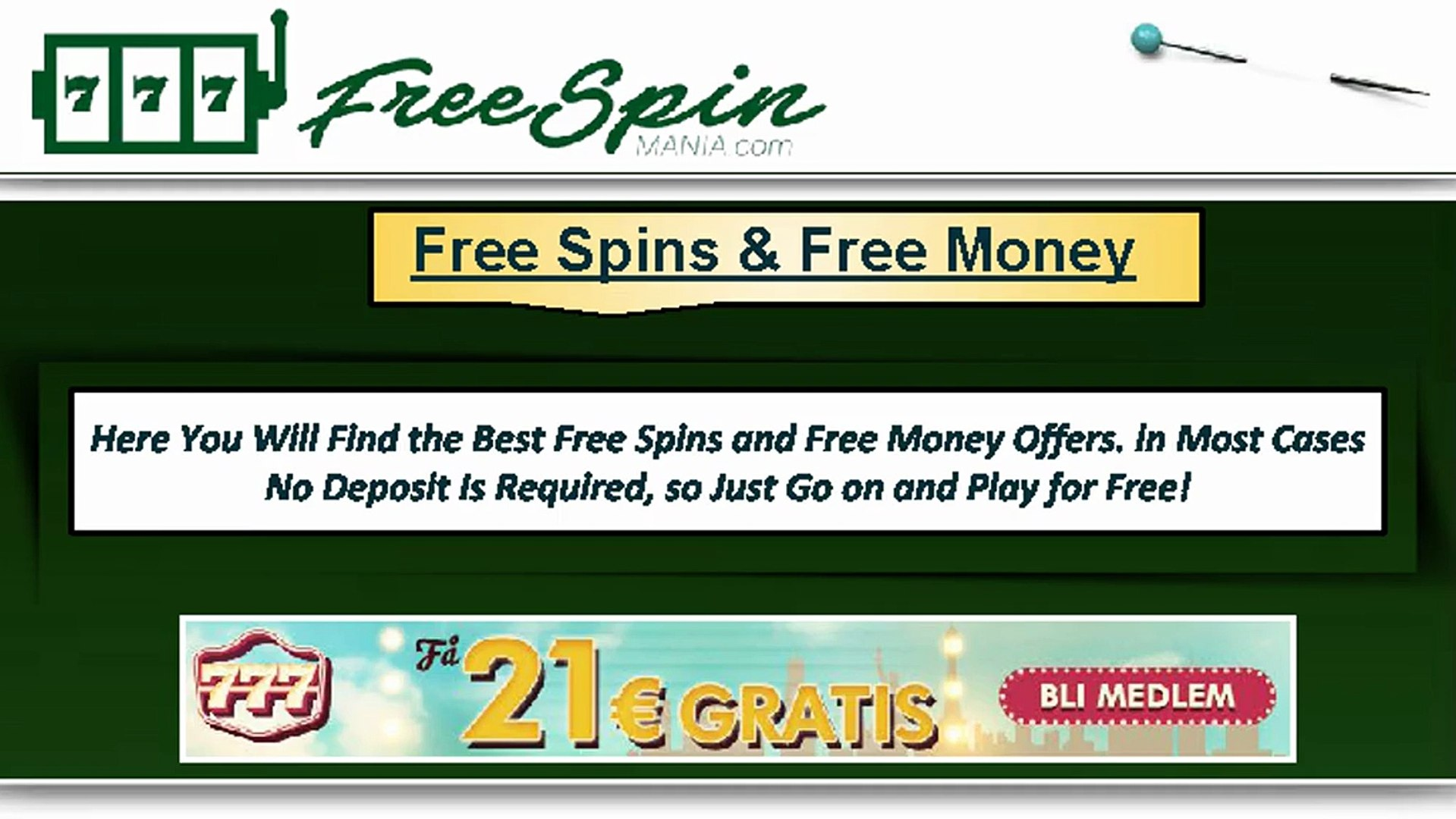 Free Money Offers Free Spin Mania Video Dailymotion