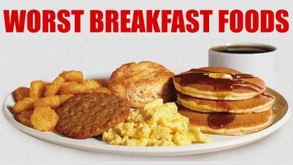 WORST Breakfast Foods & Healthy Alternatives! What to Eat, Weight Loss Tips | Corrina Rachel