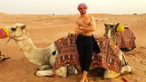 Zac Efron Goes Shirtless for Camel Riding Adventure in the Desert