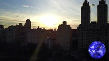 4K view of Central Park Sunset Time Lapse View from Drone (DJI Mavic Pro) (High Wind Stability Test)