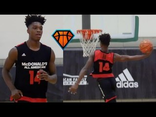Lonnie Walker Has Been LIGHTS OUT at McDonald's All-American Practices!! | Univ of Miami Signee