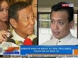NTG: Debate nina VP Binay at Sen. Trillanes, tuloy na sa Nov. 27, 2014