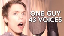 One Guy with 43 Voices (with music) - amazing voice ever