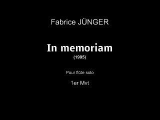 fabrice JÜNGER In memoriam