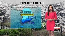 Rain expected to continue until tomorrow morning nationwide