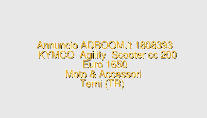 KYMCO  Agility  Scooter cc 200