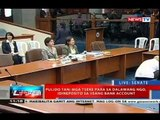 NTVL: Pagdinig ng Senado kaugnay ng Malampaya fund scam