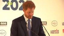 Prince Harry Pays Tribute to Princess Diana at Landmine Free World 2025 Event