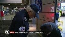 Paris : les fouilles autorisées dans les transports