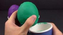 Surprise Eggs Cups - Slouchy Smurf, Gargamel, Smurfette