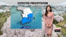 Cloudy skies under clean air, rain to continue on Jeju till tonight