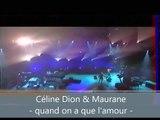 Céline Dion et Maurane - Quand on a que l'amour Live show TV