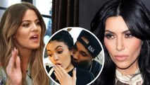 Kim Kardashian and Khloe Kardashian Fighting over Kylie-Tyga | Hollywood Buzz