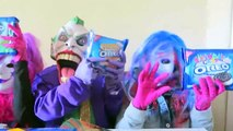 Spiderman vs Frozen Elsa vs Joker Squad! Oreo Challenge! - Funny Superheroes-X0nJkhux