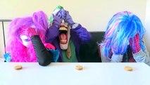 Spiderman vs Frozen Elsa vs Joker Squad! Oreo Challenge! - Funny Superheroes-X0nJk