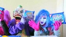 Spiderman vs Frozen Elsa vs Joker Squad! Oreo Challenge! - Funny Superheroes-X0n