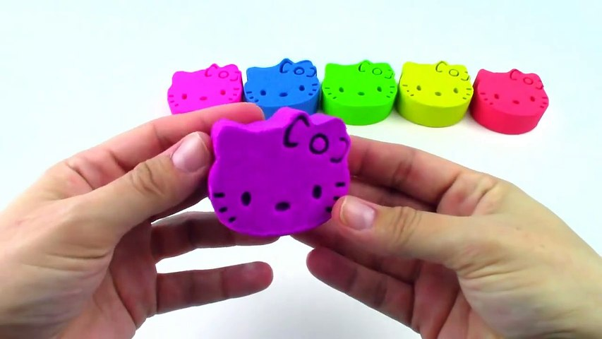 Rainbow Colors Kinetic Sand Hello Kitty Mickey Mouse Toys for Kids Learn Colors-gNFinFwC