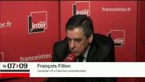 François Fillon répond aux auditeurs de France Inter