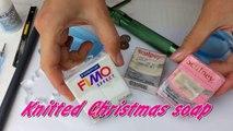 Knitted Christmas soap - DIY glycerin soap idea-3CiIiU