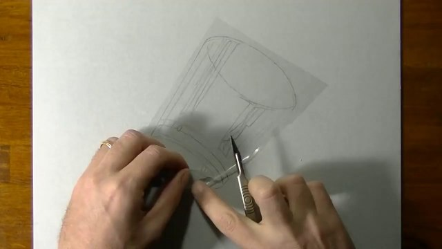 Drawing of a simple glass - How to draw 3D Art-1UsUC8bD