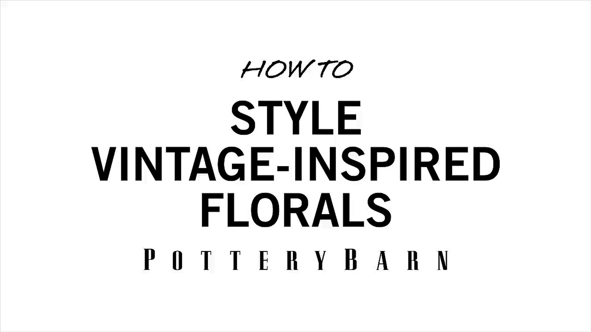 How to Style Vintage-Inspired Florals-G14Ys