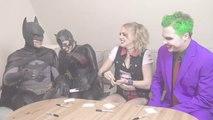 Batman, Joker - SUPERHERO MOVIE CHALLENGE! Harley Quinn, Catwoman-qu