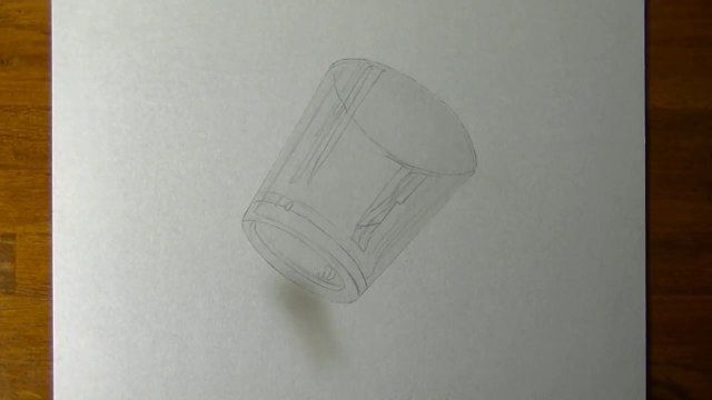 Drawing of a simple glass - How to draw 3D Art-1UsUC8b