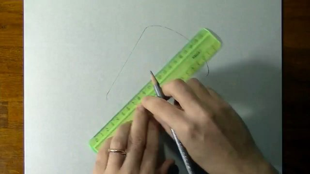 Drawing of a simple glass - How to draw 3D Art-1UsUC