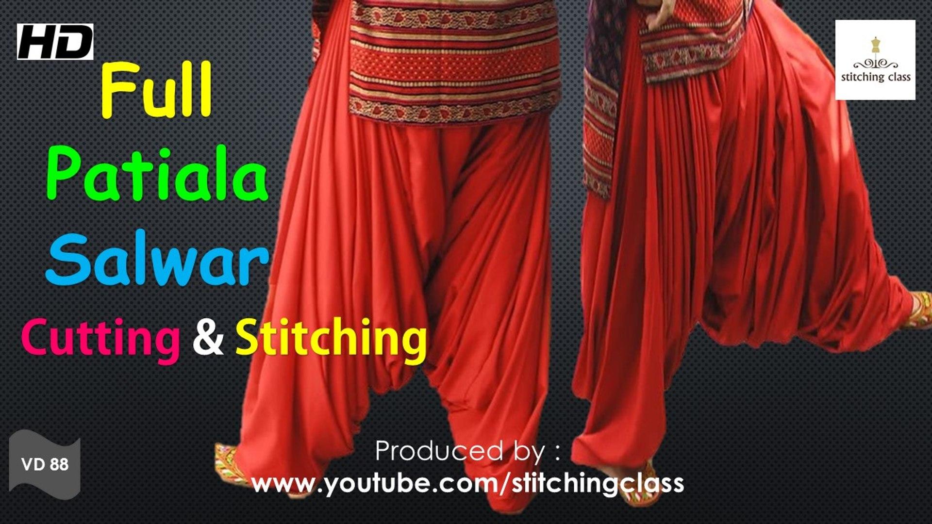 Full Patiala Salwar Cutting and Stitching